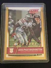 2016 SCORE Adolphus Washington Gold Zone Rookie #393 /99