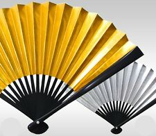 Japanese Traditional Fan SENSU High Quality reversible Gold Silver