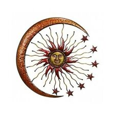 Large Metal Sun Moon Celestial Garden Decor Indoor Outdoor Art Patio Porch Wall