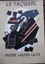 LE YAOUANC Alain - Affiche lithographie Galerie Carmen Cassé 1973 1974/