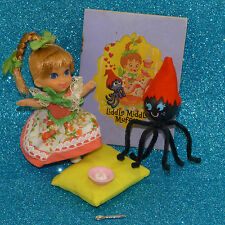 Liddle Kiddle Doll Little Miss Middle Muffet Spider Storybook Pillow COMPLETE