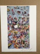 KENNY SCHARF - ( UNITED NATIONS ) WFUNA ART GRAPHIC - 1991 BAN CHEMICAL WEAPONS