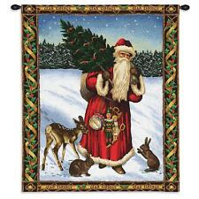 34x26 Santa Claus FATHER CHRISTMAS Holiday Tapestry Wall Hanging