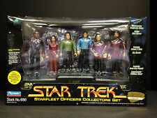1994 PLAYMATES STAR TREK STARFLEET OFFICERS COLLECTORS 6 ACTION FIGURE SET B2
