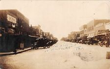1924 RPPC Stores Old Cars Main St. Dalhart TX