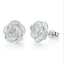 2016 Hot Fashion 925 silver jewelry Rose earrings personality Fine holiday gifts