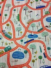 Scenic Route fabric Riley Blake material C3660 Orange route roads cars kids FQ
