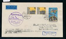 62303) LH FF Frankfurt - Los Angeles 1.1.69, Brief ab CSSR