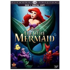 The Little Mermaid (DVD, 2013, Diamond Edition) plus Digital Copy