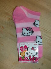 Hello Kitty Striped Short Trainer-Liner Socks UK 6-8.5 EU 22-25.5 Pink Mix BNWT