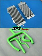 radiator &GREEN Y HOSE FOR KAWASAKI KXF250 KX250F KX 250F 2011 2012 2013 2014
