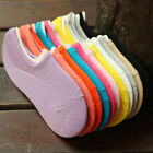 Casual Girls Lady Invisible Boat Socks No Show Ballerina Elastic Loafer Footie