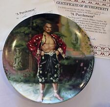 William Chambers 1985 Collector Plate A Puzzlement The King & I Series
