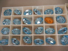 6 swarovski oval stones,18x13mm aquamarine/foiled #4100