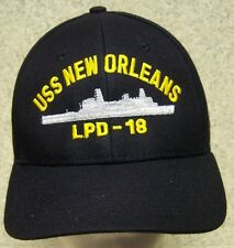 Embroidered Baseball Cap Military Navy USS New Orleans NEW 1 hat size fits all