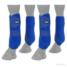 Horse Protective Sport Boots - Extreme Vented  - Fronts & Rears - BLUE - Medium