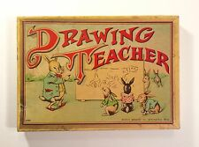 """Antique Milton Bradley """"Tracing Game"""" DRAWING TEACHER~Never Used! ca 1920~RARE!!"""