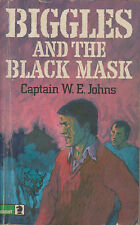 Biggles and the Black Mask Captain W E Johns Vintage Knight Book Old 1974