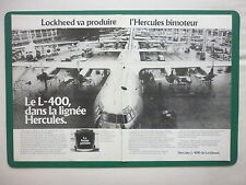 3/1980 PUB LOCKHEED AVION CARGO HERCULES L-400 ASSEMBLY LINE ORIGINAL FRENCH AD
