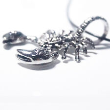 Cool Male King Scorpion Man Stainless Steel Men's Pendant Necklace PU Leather