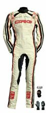 CRG 2015 White Edition CIK/FIA level 2 kart race suit (free gifts)