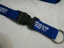 Miller Lite Beer Blue Lanyard Necklace Detachable Key Chain Ring ID Badge NEW