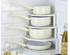 Plate And Pan Stacker Store Rack Holder Corner Cupboard Space Saver Kitchen
