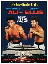 Muhammad Ali vs Jimmy Ellis POSTER BOXING 1971 Heavyweight Contenders Fight