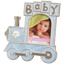 Baby Boy Blue Train Photo Picture Frame Gifted Box Gift