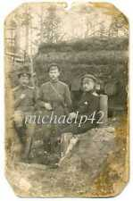 Russian WWI Officers with St George Cross and Field Glasses in the Shelter Photo