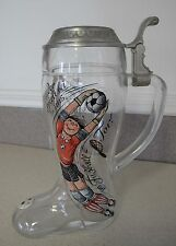 Football Soccer Tournament West Germany Beer Mug Boot Theodor at gate Goalkeeper