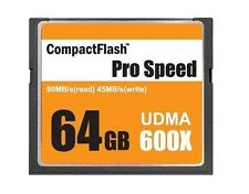 OEM 64GB 64G CF 600x COMPACTFLASH CF High speed 600X UDMA 7 90MB/s fit Nikon