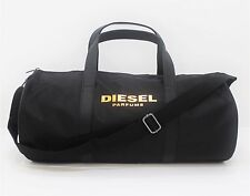 DIESEL MEN BLACK ROUND GYM/SPORT/ HOLDALL/DUFFLE/WEEKEND OVERNIGHT ROLL BAG