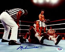 PSA/DNA MUHAMMAD ALI AUTOGRAPHED-SIGNED 8X10 PHOTO OVER GEORGE FOREMAN AB08744