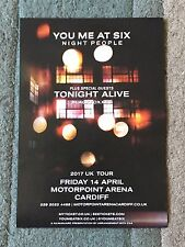 You Me At Six, Tonight Alive, Blackfoxxes Flyer 14 April 2017  Arena Cardiff