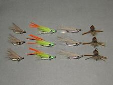 12 Bonefish Assortment #1 Fly Fishing Flies Flats Hawaii Permit Belize Bahamas