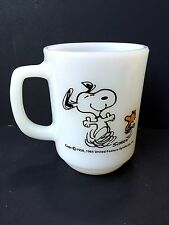FIRE KING  *SNOOPY *AT TIMES LIFE IS PURE JOY* MUG   UNUSED CONDITION