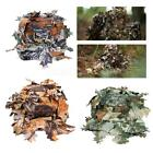 Camouflage 3D LEAF Tactical Camo Hunting Clothes Ghillie Cap Hat Headwear Set
