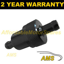 Black 1/4 de pulgadas universal de metal en línea de Filtro De Combustible Aluminio Anodizado