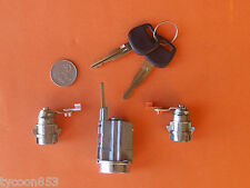 NEW IGNITION BARREL & 2 DOOR LOCKS SUIT TOYOTA HILUX 4RUNNER LN RZN VZN KZN