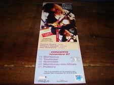 PATRICK RONDAT - PUBLICITE CONCERTS NOVEMBRE 97 !!!!!!!