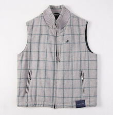 NWT $995 TOMBOLINI Heather Gray Brushed Wool Outer Vest M/50 Made in Italy