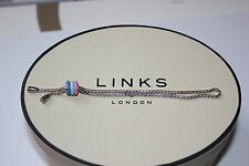 GENUINE LINKS OF LONDON STERLING SILVER CHILDS SWEETIE BONBON TOGGLE BRACELET