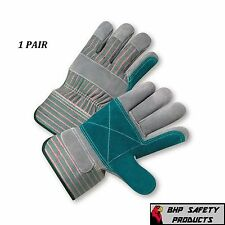 DOUBLE PALM SPLIT LEATHER WORK GLOVE SIZE LARGE WEST CHESTER 500DP (1 PAIR)