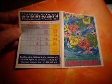 Ancien Dépliant pour Billets de la Loterie Nationale St Valentin  1962 Lesourd