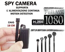 MICROSPIA SPY CAMERA SPIA FULL HD MOTION DETECTION TELECAMERA NASCOSTA +SD 32GB