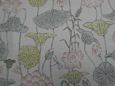 Zoffany Curtain Fabric  'Lotus Flower' Linden/Coral 3.35 METRES Town & Country