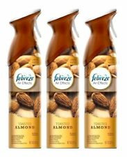 3 Pk Febreze Air Effects Toasted Almond Scent Aerosol Air Refresher Spray 9.7 Oz