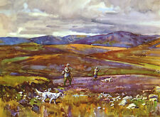 ENGLISH SETTER DOGS ON MOORS SHOOTING SCENE LOVELY DOG GREETINGS NOTE CARD