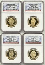 2007 S Presidential Dollar 4 Coin Proof Set NGC PF70 Ultra Cameo UC PR70 $1